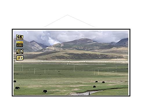 TOPTRO Beamer Leinwand 100 Zoll– Projektor Leinwand für Indoor und Outdoor für Film und Büropräsentationen – 16:9 HD