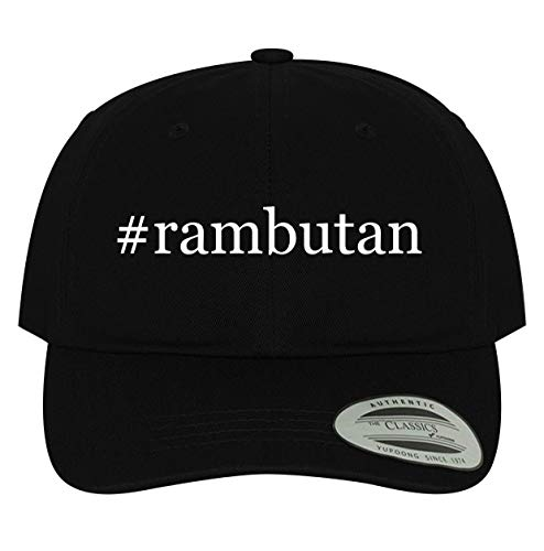 BH Cool Designs #rambutan - Men's Soft & Comfortable Hashtag Dad Baseball Hat Cap, Black, One Size