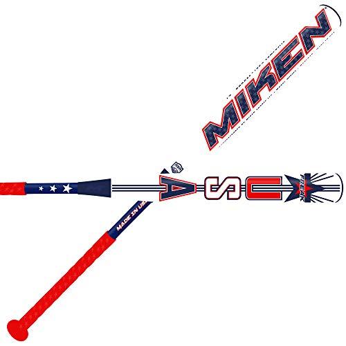 "Miken Limited Freak USA Maxload ASA Border Battle Model 2-Piece Adult Slowpitch Softball Bat, 27"", 14"" Barrel Length"