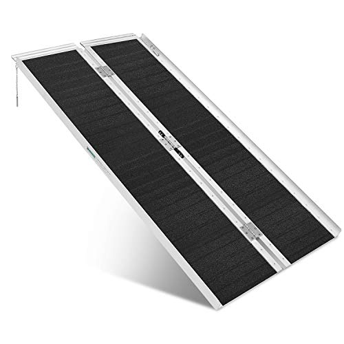 ORFORD Non Skid Wheelchair Ramp 5FT, Utility Mobility Access Threshold Ramp for Home Steps Stairs Doorways Scooter