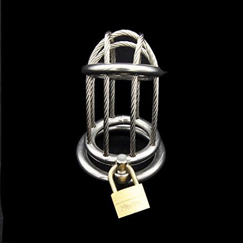 CJWWEI Herren Metall Edelstahl Keuschheitsschloss offenes Vorhängeschloss Penis Lock Gerät Spielzeug (Size : 40mm)