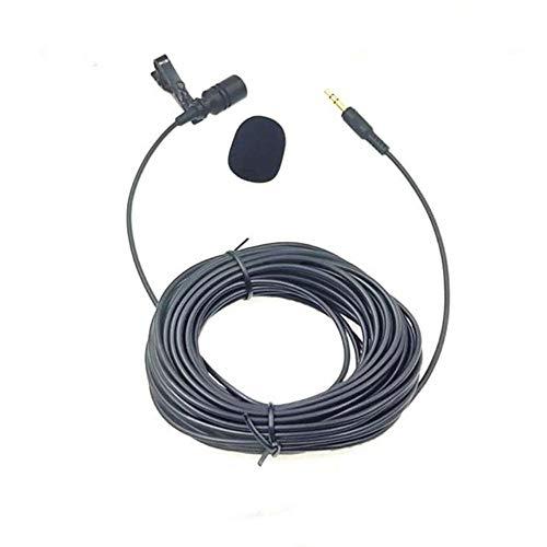 NOP 10m Extended Cable Lavalier Microfoon Outdoor Live uitzending Microfoon Kraag Clip voor Versterker Mobiele Telefoon