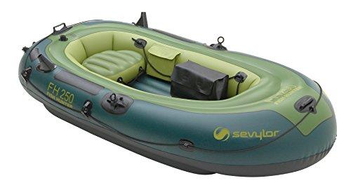 Sevylor Schlauchboot Fish Hunter FH250, ideal zum Angeln, aufblasbares Boot für 2 Personen, 233 x 112 cm, inkl. Angelrutenhalter, Vorrichtung für Elektromotor