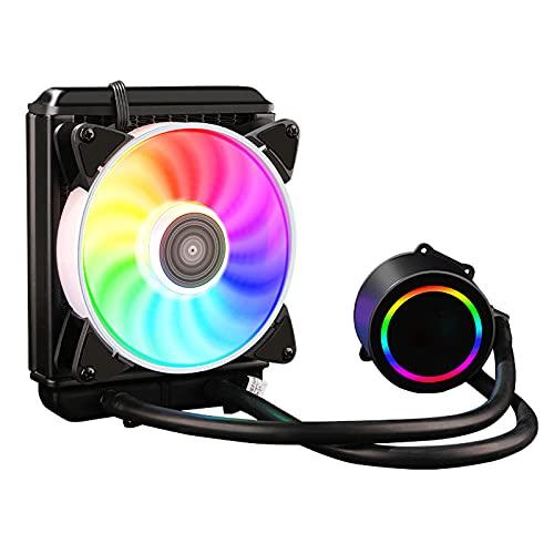 ZXCASD Stealth Disipador de CPU: Ventiladores Push Pull 120 V2, Array 2 Heat Pipes, Espacio Ilimitado para RAM, Acabado Negro Mate, Compatibilidad Socket Universal