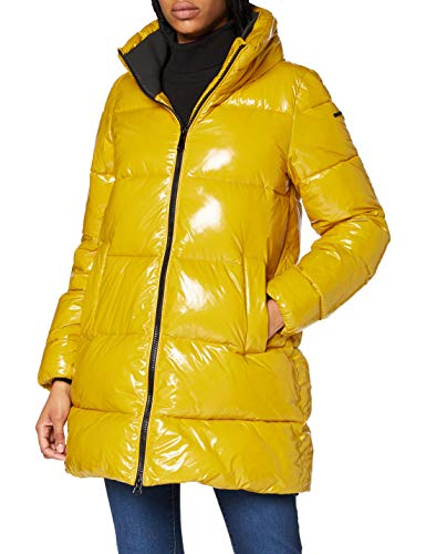 Geox W EMALISE Chaqueta acolchada, Color amarillo, 46 para Mujer