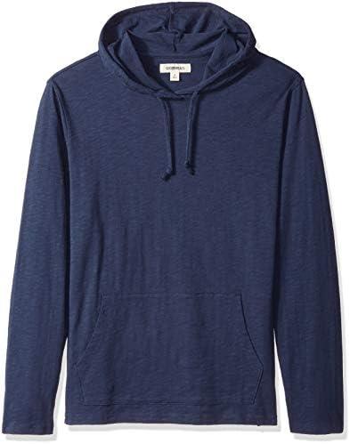 Goodthreads Men s Lightweight Slub T Shirt Hoodie Navy X Large product image