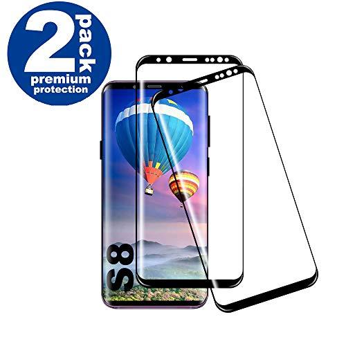 avis verre trempé s8 professionnel Verre trempé KUTUKU Galaxy S8, [2 Pièces] [Full Coverage] [Dureté 9H] [Ultra Claire] [Anti…