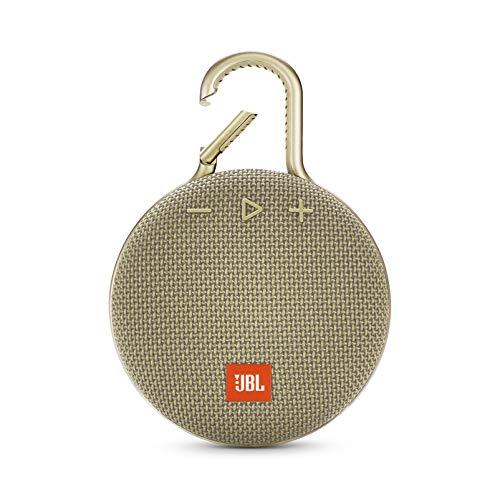 JBL Clip 3 - Altavoz inalámbrico portátil con Bluetooth, parlante resistente al agua (IPX7), hasta 10h de música continua, arena