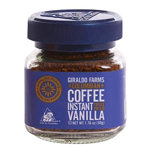 Giraldo Farms 100% Colombian Coffee Instant Freezedried Vanilla
