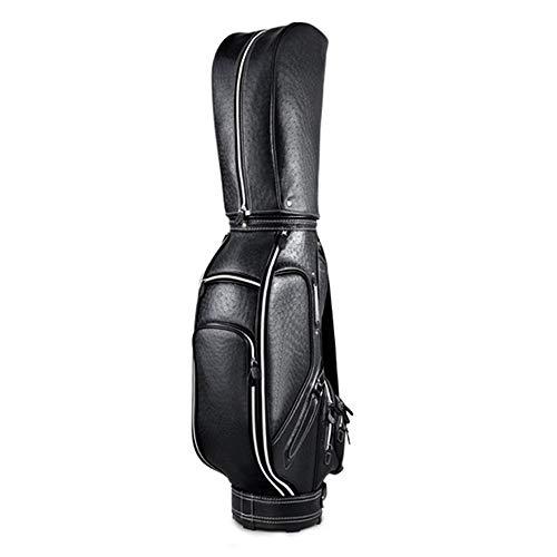 Golf Cartbag & Standbag PU-Golftasche Leichte Golf Stand Bag Easy To Durable Pitch Golf Bag Multicolor optional Carry Großvolumige Wasserdicht Und Leicht Nylon Ma ( Color : Black , Size : As shown )