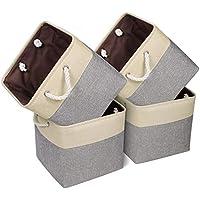 4-Pack Univivi Collapsible Storage Bins Basket