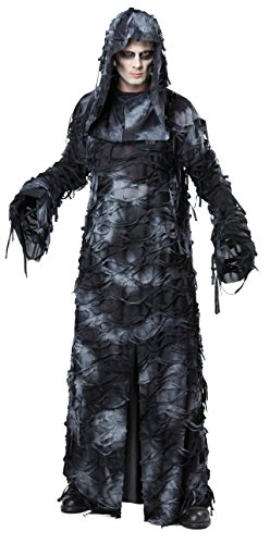 California Costumes Men's Deluxe Ghoul Robe, Black/Gray, Large/X-Large