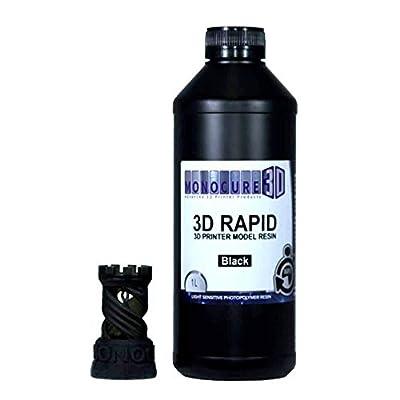 Monocure3D 3DR3587BK-1000 Rapid Resin, 1 L, 34 oz, Black