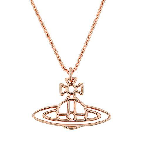 Vivienne Westwood ヴィヴィアン ウエストウッド ネックレス ペンダント アクセサリー 63020259-G002 THIN LINES FLAT ORB PENDANT PINK GOLD [並行輸入品]