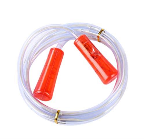 Professionelles Springseil mit LED-Beleuchtung, leuchtet im Dunkeln, für Männer und Frauen, 2,5 m, Rot