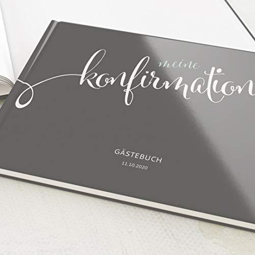 sendmoments Konfirmation Gästebuch, Dieser Tag, personalisiert mit Ihrem Wunschtext, hochwertige...