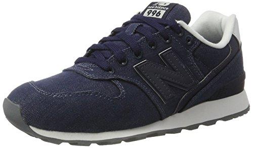 New Balance Damen Wr996 Sneaker, Blau (Navy), 39 EU