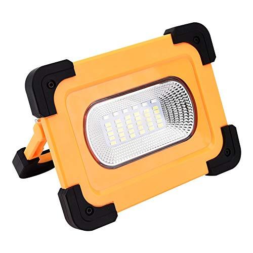 High Brightness Floodlights Solar overstroming licht 100W IP64 oplaadbare Power Bank met zonnepaneel, for Outdoor Camping Emergency Outdoor Spotlight (Color : Yellow, Size : 100W)