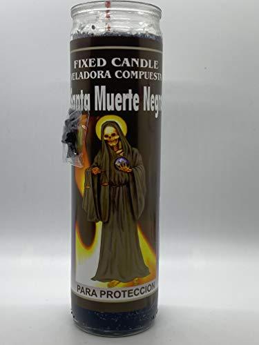 Santa Muerte Negra Fixed Candle Religious