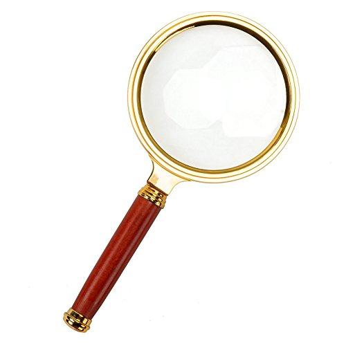 PROW® Golden Classic Design Handheld 80mm 8X Lupe lupe für Um dem alten Mann zu helfen Deutlich Lesen Schlechte Sicht Inspektion Handwerk Schmuck