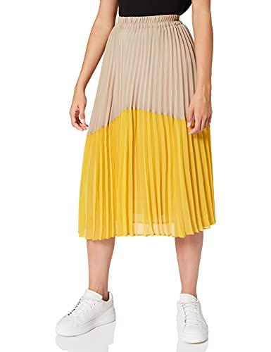 Falda amarilla con vuelo de dos tonos (amarillo ocre)