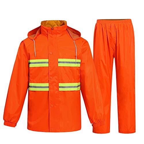 Outdoor equipment Vêtement imperméable en Deux Parties pour entraînement en Plein air, imperméable Orange de Sauvetage Orange Poncho ZDDAB