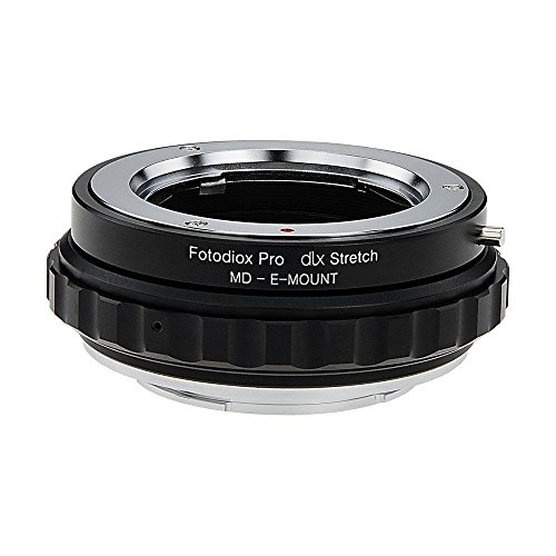 Fotodiox DLX Stretch Lens Mount Adapter - Minolta Rokkor (SR/MD/MC) SLR Lens Compatibel met Sony Alpha E-Mount Mirrorless Camera Body met Macro Focusing Helicoid en Magnetic Drop-In filters