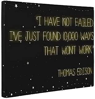 Thomas Edison Quote CANVAS Wall Art Home Décor