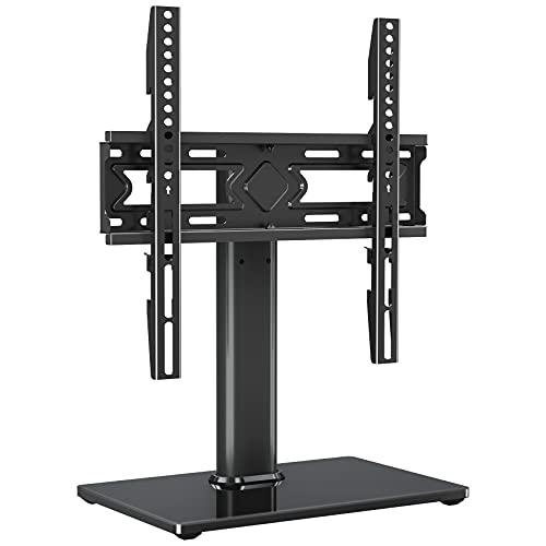 ELIVED Schwenkbare TV Ständer für 37-55 Zoll (94-140cm) Fernseher bis zu 40kg, Max VESA 400x400mm, TV Standfuss Höhenverstellbar für OLED LCD LED Plasma Flach & Curved TVs, Stabil TV Stand EV019