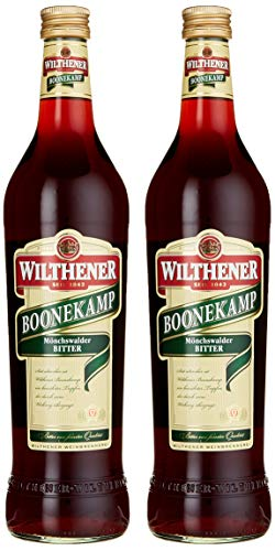 WILTHENER Boonekamp, Bitter 43 {fb9d75a7c5d6c138ae53532457f235111f8d77436d2ce26c3109748b2e812ebf}, bewährter Tropfen aus Kräutern und Wurzeln, Bitterlikör ohne Zuckerzusatz (2 x 0.7 l)