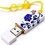 Nfudishpu U Disk, USB 2.0-Flash-Laufwerk Wasserdichter Daumenantrieb Sprungantrieb Stiftantrieb Memory Stick Schlüsselring Datenübertragung Kompatibel mit Android-Handys