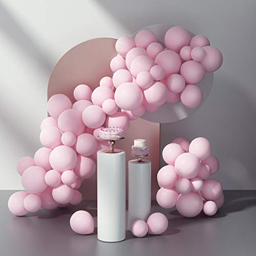 Pastel Pink Balloons Kit Latex Party Balloons 12inch 5inch 80pcs...