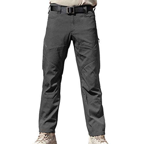 FREE SOLDIER Men's Tactical Pants with Multiple Pockets Summer Breathable Lightweight Pants Duty Work Pants (Gray Color, 36W)