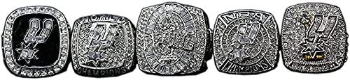 1999 2003 2005 2007 2014 Baloncesto San Antonio Spurs Championship Ring Set Men's Ring, Boyfriend Collection Copy Champion, Caja, 11#, with Box - 11#