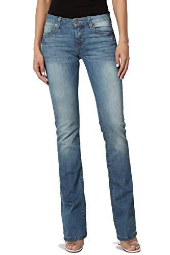TheMogan Women's Washed Stretch ...
