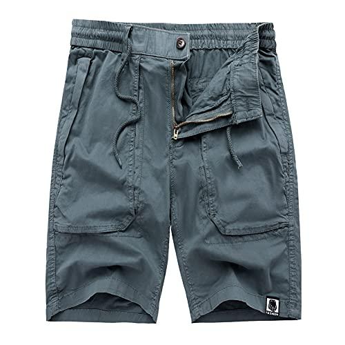 Pantalones de moda para hombre, pantalones de chándal, pantalones de trabajo al aire libre, pantalones cargo con múltiples bolsillos, pantalones casuales japoneses de talla grande lavados de 30