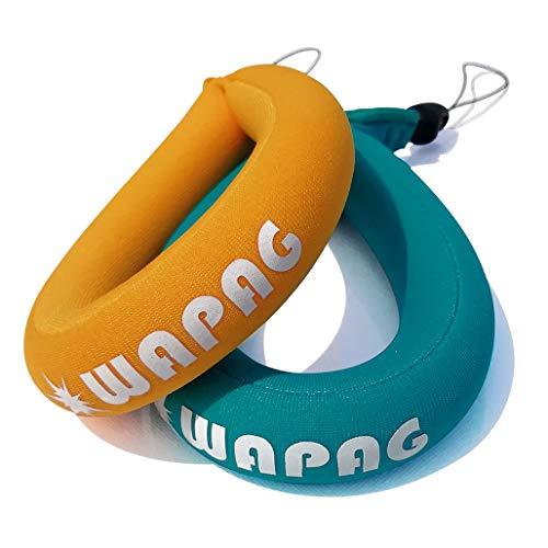 WAPAG Waterproof Camera Float Strap, Floating Wristband Buoyancy Belt for Camera/Waterproof Bag/Cell Phone (Turquoise Orange)