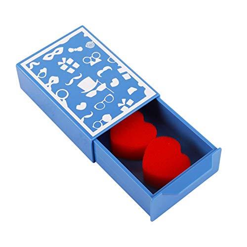 Wateralone Magic Drawer Box Pull Box Magic Trick Appearing Stage Illusions Gimmick Fun Magic Trick Requisiten – Blau