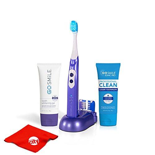 Go Smile Pro Teeth Whitening Kit UV Sonic Toothbrush Dental Care System (Violet)