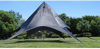 Carpa de Estrella para Eventos XL I Carpa de Araña de Tejido I Carpa de Camping con Revestimiento de PU I Carpa para Eventos 40m² I Color:, Color:Azul