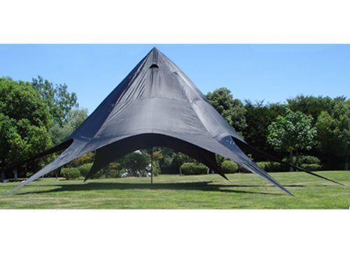 CLP XL-Sternzelt für den Garten I Event-Zelt mit 14 Meter Durchmesser I Gartenzelt mit Einer überdachten Fläche von ca. 40 m² I erhältlich Blau