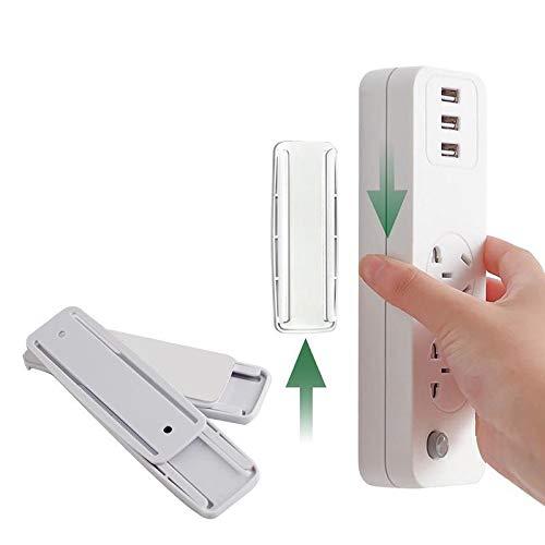 Fijador de cable de enchufe sin perforación, autoadhesivo para regleta de alimentación, montaje de pared para caja de pañuelos WiFi, organizador de control remoto, ahorro de espacio (5 unidades)