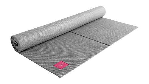 SHANTI NATION - Shanti Mat XXL - sehr große Yogamatte - 200 x 100 x 0,6 cm - extra breit und lang - komfortabel - auch für Pilates & Fitness - Cool Grey