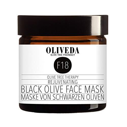 Oliveda F18 - Maske aus schwarzen Oliven - Rejuvenating | Naturskosmetik gegen unreine & fettige Haut + regeneriert & entspannt die Haut - 60 ml