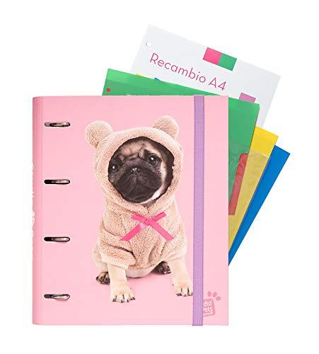 Erik Carpeblock - 4 anillas Studio Pets Dogs - Con hojas y separadores - Tapa...