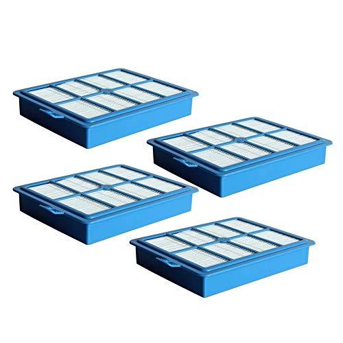 Schoonmaakborstels 4 stuks Vervangende Filter for Philips Electrolux Series FC9172 FC9087 FC9083 FC9258 FC9261 FC8031 H12 H13 stofzuiger onderdelen Home Kitchen supplies (Color : 4pcs, Size : Blue)