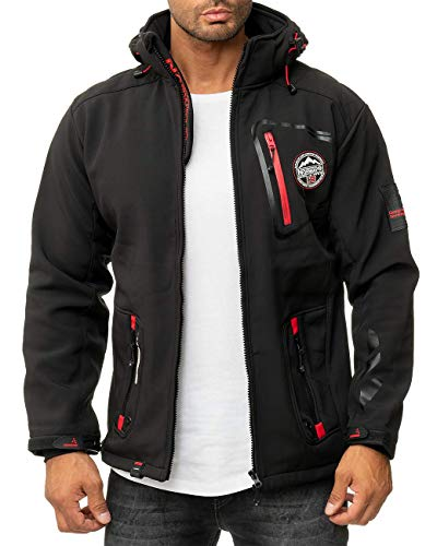 Geographical Norway Chaqueta Softshell para hombre. Black2. M