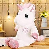 35/60/80 cm Adorable Unicornio Gigante de Peluche de Juguete Relleno Kawaii Suave muñecas de Caballo para niños Regalo Creativo de Navidad de cumpleaños para niñas 60 cm Rosa