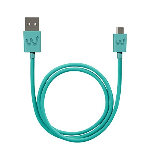 Wiko WKPWCA100S1 - USB Kabel (1 m, USB A, Micro-USB B, Male Connector/Male Connector, Türkis)