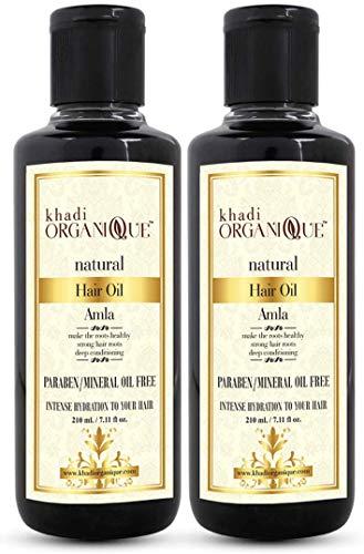 Glamorous Hub Khadi Organique Amla Hair Oil Pack de 2 (el embalaje puede variar)